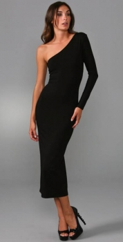 One-Shoulder Cocktailkleid Schwarz