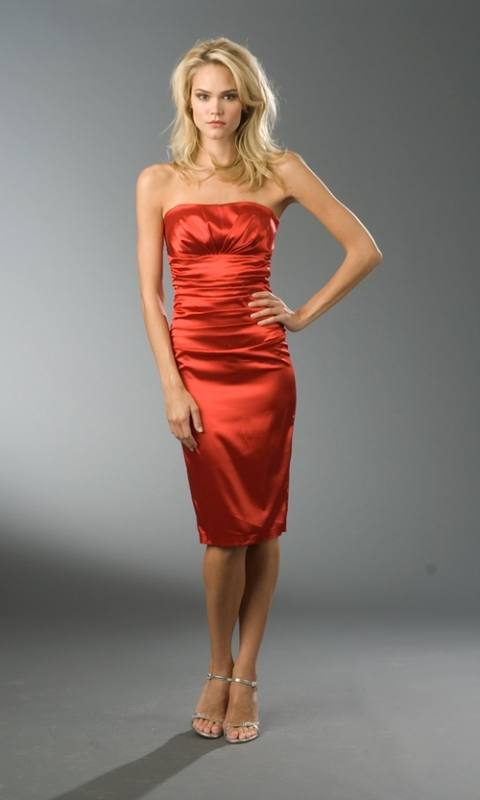 Rotes abendkleid satin