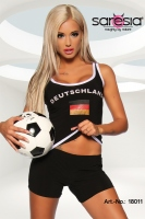 Nationaltrikot Tank-Top schwarz